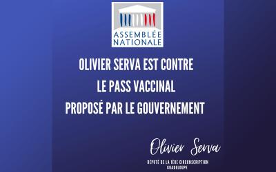 Olivier Serva est contre le pass vaccinal proposé par le gouvernement